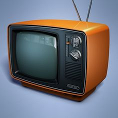 Television set from the 70's.We had 4 channels and it used to be black and white!No remotes here! My dad used to make us kids get up to change the channel!