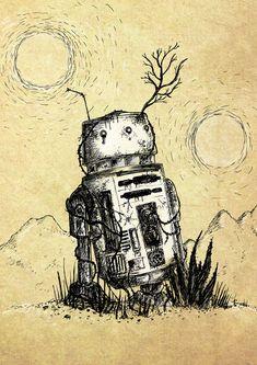 A3 Star Wars Robots - Star Wars Gift #art #starwars #r2d2