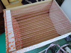 Weben im Pappkarton / Weaving in cardboard box / Upcycling