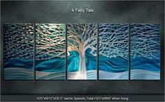 """'Original Metal Wall Art Modern Painting Scupture Indoor Outdoor Decor """"A Fairy Tale"""" by Ning'"""