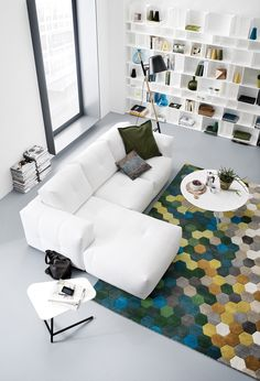 Designed by Anders Nørgaard, the Bergen sofa for Boconcept. The carpet is particularly nice.