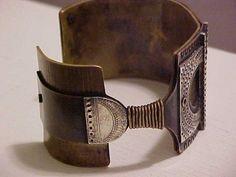 Moore Streb Modernist Silver Bronze & Brass Bracelet