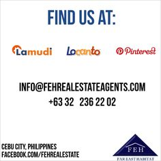 find us at lamudi, locanto, pinterest fehrealestateagents.com Cebu City, Philippines, Cebu