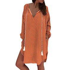 Robe Longue Femme,MEIbax Striped Imprim/é Robe Col V L/âche Robe Mode Casual Robe de Plage Vacances /Ét/é Plage Robe De F/ête//Soir/ée Cocktail avec Ceinture Noir S//M//L//XL//2XL