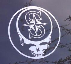 Mariners,Grateful Dead decal,die-cut vinyl sticker,steal your face,seattle   Home & Garden, Home Décor, Decals, Stickers & Vinyl Art   eBay!