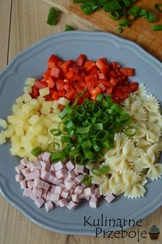 Healthy Finger Foods, Healthy Eating, Healthy Recipes, Feta, Tortellini, Cobb Salad, Side Dishes, Food And Drink, Tasty