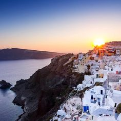 This itinerary is almost impossibly pretty with its crescent bays, whitewashed buildings, and a rainbow of pastels. Sunbathe on a different beach every day, while away the evening over ouzo, and hire a boat for a day to explore neighboring isles. Greece Honeymoon, Greece Travel, Greek Islands, Santorini, Boat, Explore, Sunset, Water, Travelling