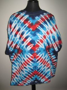 4X large Tie dye Tshirt Red White and Blue by AlbanyTieDye on Etsy, $23.00