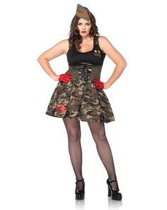 Combat Cutie Plus Size Womens Costume