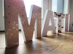 DECOUPAGE WOOD LETTERS