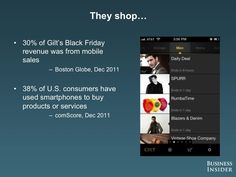 we shop online: 30% of the sales during the Black Friday done from mobile