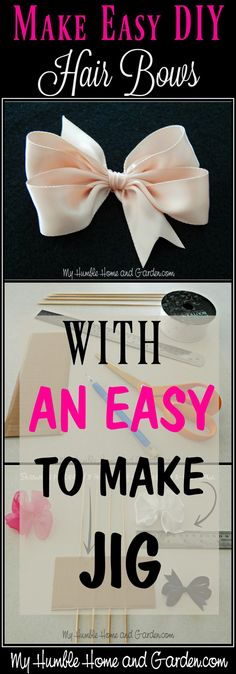 How To Make Easy DIY Hair Bows For Little Girls. Click through for step by step… How To Make Easy DIY Hair Bows For Little Girls. Click through for step by step directions for making an easy jig for DIY hair bows! Ribbon Hair Bows, Diy Hair Bows, Ribbon Flower, Fabric Flowers, Homemade Hair Bows, Ribbon Diy, Diy Flowers, Crochet Flowers, Baby Girl Bows