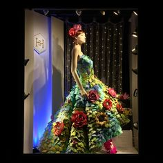 """HARNEY&SONS, Soho, New York, """"In an endless garden of flowers I will always pick you..."""", for NYFW, creative by Polar Buranasatit, mannequin by Rootstein, pinned by Ton van der Veer"""