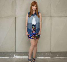 Colete jeans de patchwork da marca Coleteria ♡ - Coletes exclusivos | feminino e infantil | Coleteria ♡