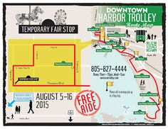 Take the Downtown - Harbor Trolley to the Ventura County Fair!  Due to the Fair traffic changes the trolley will stop at the corner of Figueroa and Thompson Blvd.  #downtownventura   #trolley   #ventura   #venturacountyfair  #downtownharbortrolley