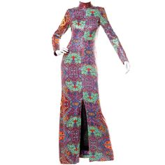 Malcolm Starr by Elinor Simmons Vintage 70's Sequin Maxi Dress | From a collection of rare vintage evening dresses at http://www.1stdibs.com/fashion/clothing/evening-dresses/