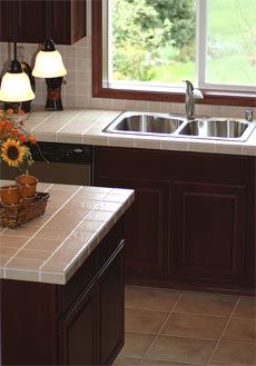 ceramic tile kitchen countertops are cheap but can work if you use a solid top for your bar
