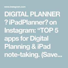 """DIGITAL PLANNER 👍 iPadPlanner📖 on Instagram: """"TOP 5 apps for Digital Planning & iPad note-taking. (Save for future reference✅) ⠀ 1) ZoomNotes 2) Noteshelf 3) Notability 4) PDF Expert 5)…"""" Study Hacks, Study Tips, Note Taking, Ipad, Notes, Future, Digital, Top, Instagram"""
