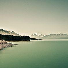 calming lake