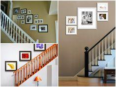 Como colocar los cuadros en la escalera