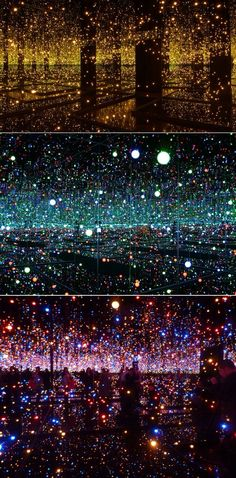 Yayoi Kusama (Infinity Mirrored Rooms) must have taken notes from my room.