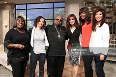 Singer-songwriter and television personality CeeLo Green visits the ladies of THE TALK, Monday, June 9, 2014 on the CBS Television Network. From left, Sheryl Underwood, Sara Gilbert, CeeLo Green, Marie Osmond, Aisha Tyler and Julie Chen, shown
