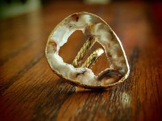 Large Geode Slice Ring  Orig:  $64  sale:  **$19.99**    buy.ephphie@gmail.com