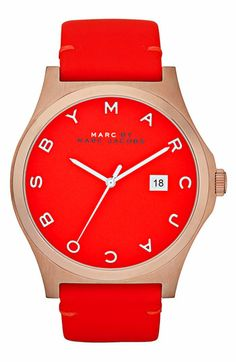 MARC BY MARC JACOBS 'Henry' Leather Strap Watch   Nordstrom $200