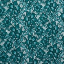 Porcelain Green Corded Floral Lace w/ Semi-Finished Edges