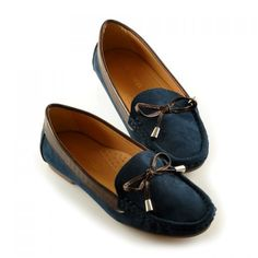 Sweet Suede and Bowknot Design Flat Shoes For Women, BLUE, 39 in Flats | DressLily.com