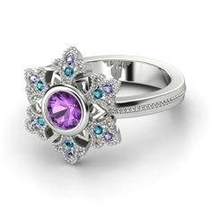 Disney's Frozen inspired snowflake ring from Gemvara.