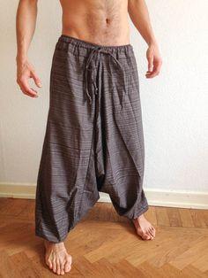 #Brown Line Pattern #Samurai Pants - by #Bindidesigns