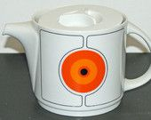 Mid Century Modern Teapot, Space Age Design 1970s