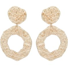 Astrid Large Textured Gold Plated Drop Earrings