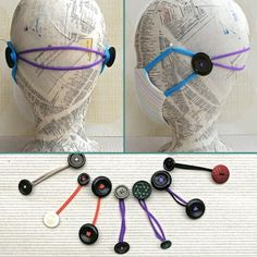 Sewing Hacks, Sewing Crafts, Sewing Projects, Easy Face Masks, Diy Face Mask, Diy Mask, Vintage Buttons, Sewing Patterns Free, Mask Making