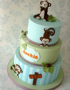 boys 1st birthday cakes non fondant | Christening Cakes Fit for a Prince (or Princess)!