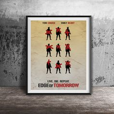 Movie poster printEdge of Tomorrow-alternative by OandBstudios