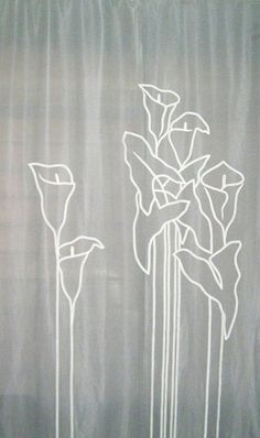 Hand embroidered curtain