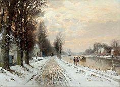 WINTER AAN DE VECHT Louis Apol ('s-Gravenhage 1850 - 's-Gravenhage 1936)
