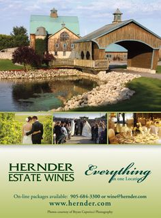"""Hernder Estate Wines - In Niagara Wine Country Makes a perfect background for rustic charm wedding! *Part of the """"Vendors We Love!"""" Board created by Perfect Touch Photography & Co. Providing photographic services for the GTA, Mississauga, Oakville, Burlington, Ontario info@perfecttouchphotography.org www.perfecttouchphotography.org"""