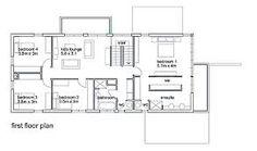 Resultado de imagen para planos de casas de un piso con cuatro dormitorios