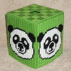 Plastic Canvas Bear Patterns | Panda Bear Tissue Box Cover Plastic Canvas Pattern | eBay