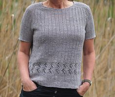 Nara is worked seamlessly from top down with an allover ribbing pattern. For yoke increases it uses the contiguous method by Susie Myers. The neckline is shaped with german short rows. After short rows are done, the sweater is worked in full rounds.