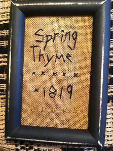 Spring Thyme Stitchery~ Primitive Sampler~ Early Style ~1819~