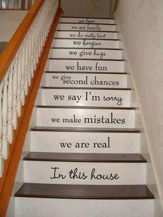 Love is patient. Love is patient. Love is patient. Love is patient. Wall Stickers, Wall Decals, Stair Stickers, Wall Art, Vinyl Decals, Wall Vinyl, Vinyl Art, Stairway Art, In This House We