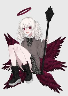 Anime Devil, Anime Angel, Anime Oc, Fanarts Anime, Kawaii Anime Girl, Anime Art Girl, Anime Girls, Diablo Anime, Fille Anime Cool