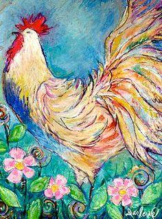 Darlene Bevill American Artist, Impressionist artist | ROOSTERS