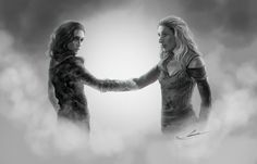 """Lexa and Anya, Reunion by PapurrCat  """"Way too early for the party, kid.""""  """"Anya...There's this gi-""""  """"Clarke. Yes. I knew you'd like her."""""""