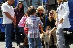 Joan Rivers meeting with Lucy Pet Foundation customers.