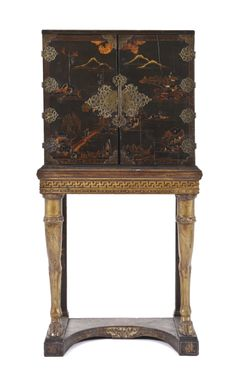 A Chinese Export Cabinet on Stand | Height 63 x width 31 1/2 x depth 17 3/4 inches | Palm Beach Winter Auction